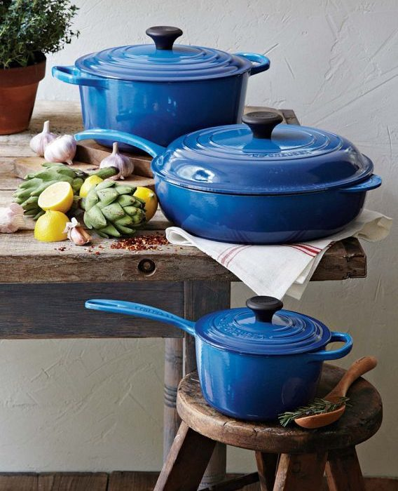 Feeling Marseille Blue over Le Creuset's Enamelware