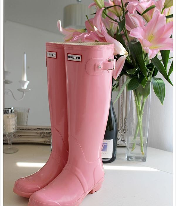 Pastel Hunter Wellies and Bright Rain Boots in Rainbow Shades to Brighten Rainy Days