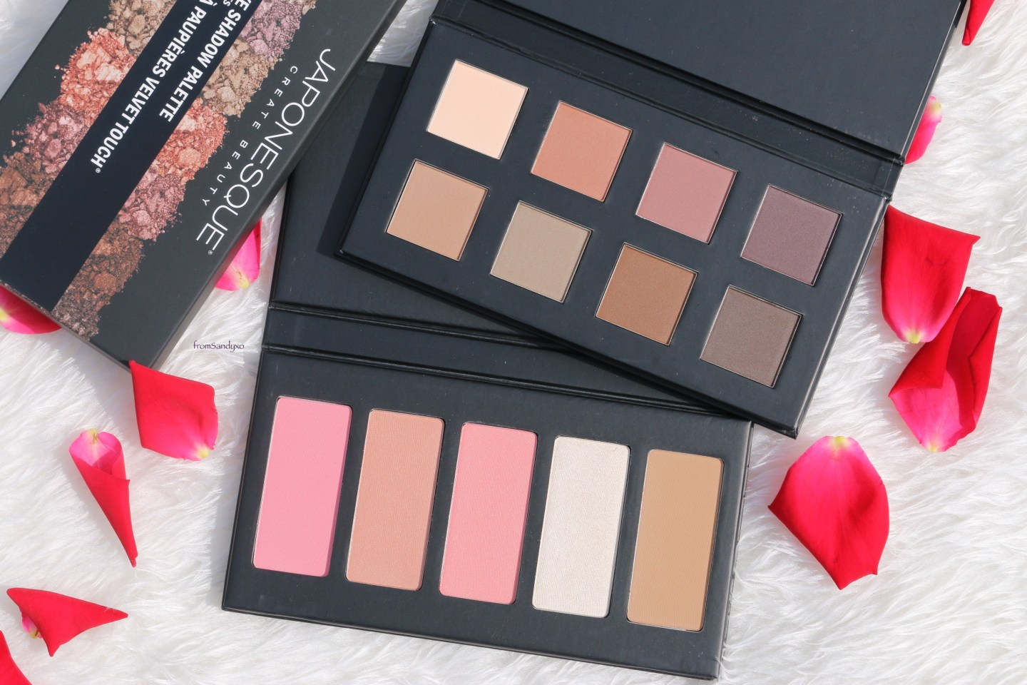 Nude Eyeshadow Shades from Japonesque in Velvet Touch ~ Luxury Beauty Product Review