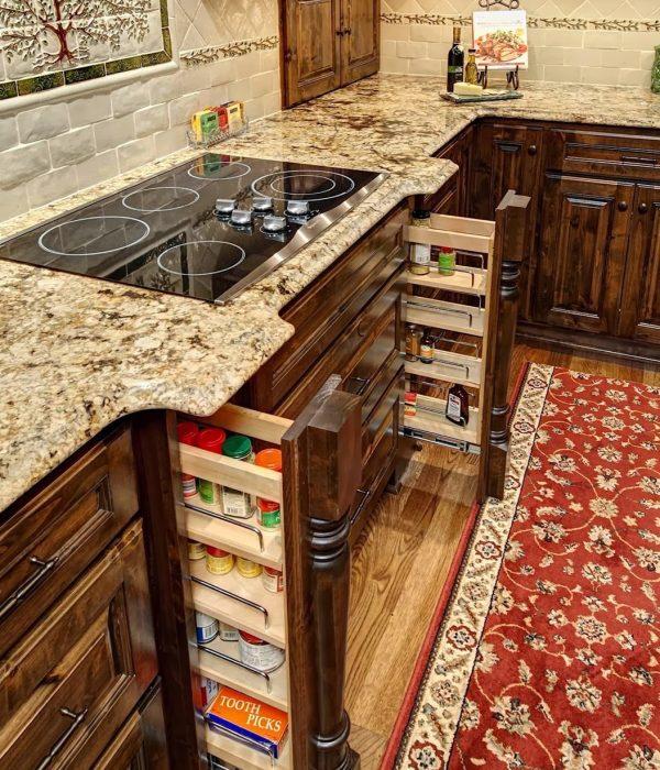 Kitchen Spotlight – Hidden Spice Drawers and Window Seat